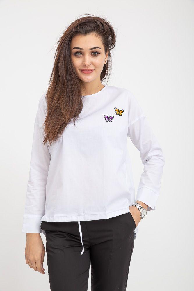 Блузка женская 115R286J цвет Белый