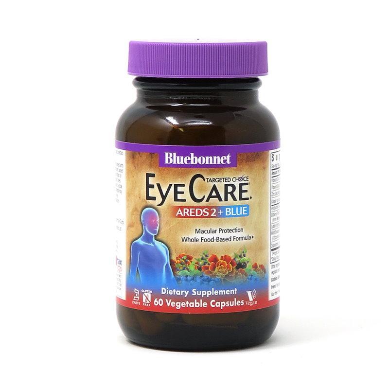 Натуральная добавка Bluebonnet Targeted Choice Eye Care Areds2 + Blue, 60 вегакапсул