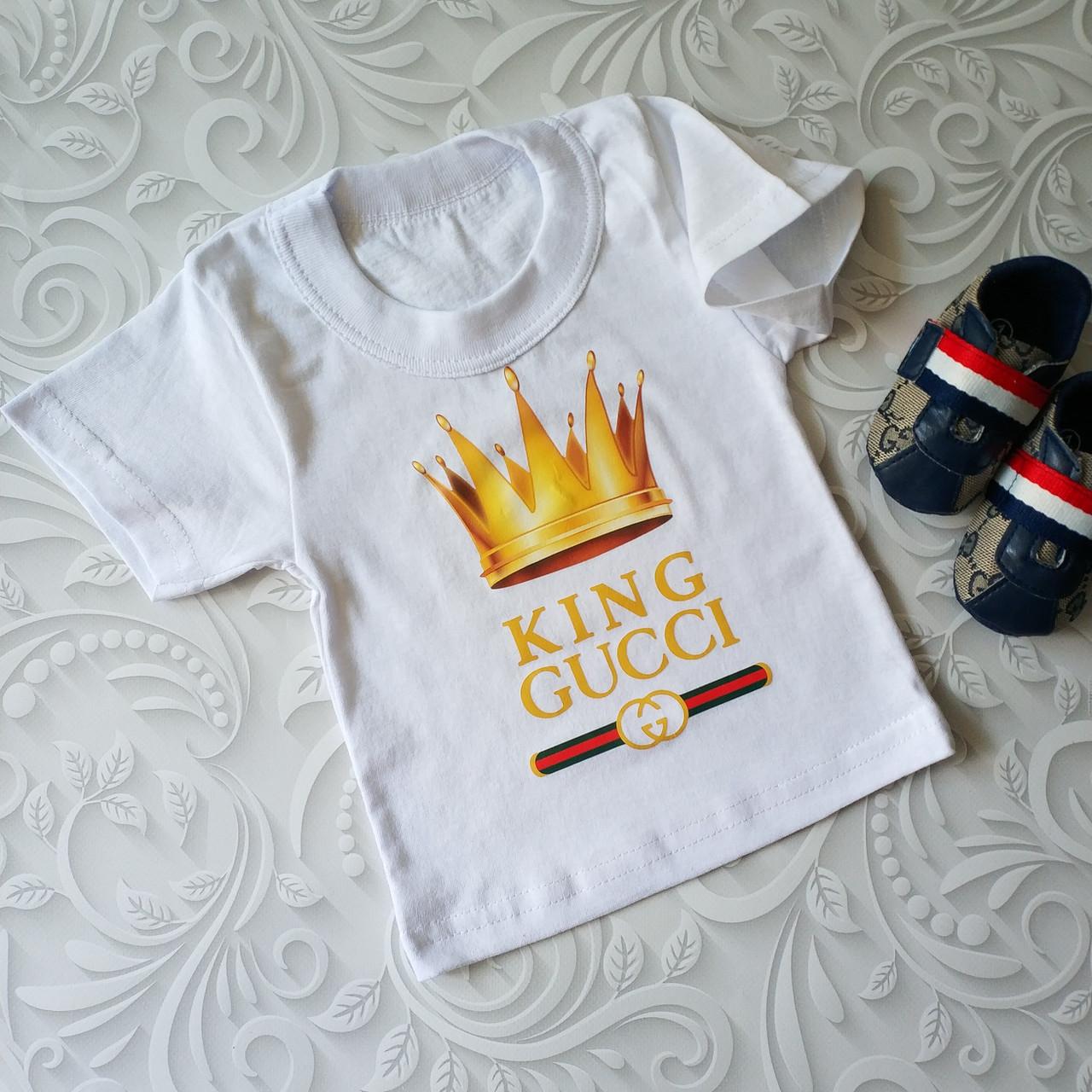 Белая детская футболка Gucci