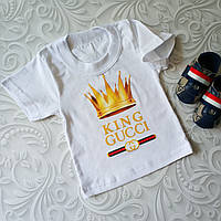 Белая детская футболка Gucci, фото 1