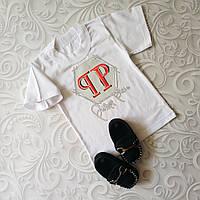Белая детская футболка Philipp Plein, фото 1
