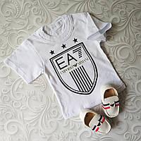Белая детская футболка Armani