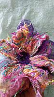 Валяная брошь-зажим, мокрое валяние, валяное украшение для волос, большая брошь-зажим Цветок