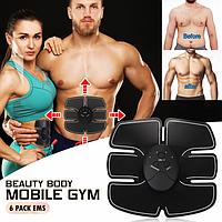 Миостимулятор для подкачки мышц живота   Вибротренажер для пресса   Бабочка Beauty body mobile gym (Реплика), фото 1