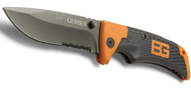 Туристический складной нож с чехлом   Карманный нож Gerber Bear Grylls (Реплика)