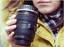 Термокружка с крышкой и поилкой в виде объектива фотоаппарата Canon EF 24 105   Стильная чашка термос, фото 6