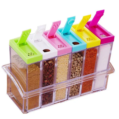 Кухонний набір ємностей для спецій 6шт Seasoning six-piec set