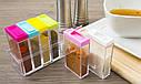 Кухонний набір ємностей для спецій 6шт Seasoning six-piec set, фото 7