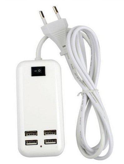 Адаптер питания с выходом на 4 USB разъема 5V-3А | Зарядное устройство для телефонов