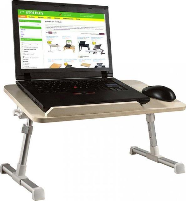 Раскладной регулируемый столик для ноутбука с USB кулером для принудительного охлаждения ERGONOMIC LEPTOP DESK