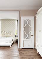 Межкомнатная дверь Casa Verdi Fiori 1 белая со стеклом из массива ясеня