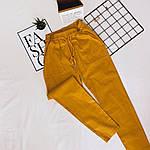 Женские штаны, лён - коттон, р-р С-М; Л-ХЛ (горчица), фото 2