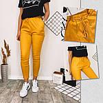 Женские штаны, лён - коттон, р-р С-М; Л-ХЛ (горчица), фото 3