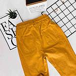 Женские штаны, лён - коттон, р-р С-М; Л-ХЛ (горчица), фото 4