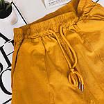 Женские штаны, лён - коттон, р-р С-М; Л-ХЛ (горчица), фото 6