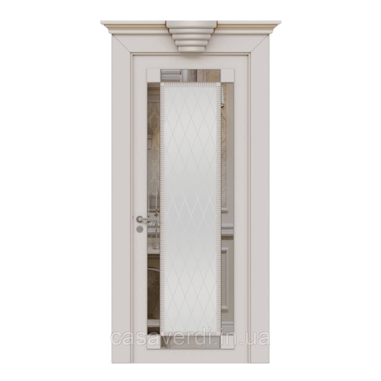 Межкомнатная дверь Casa Verdi Firenze 4 из массива ольхи белая