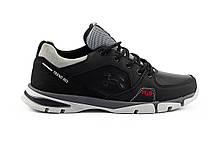 Подростковые кроссовки кожаные весна/осень черные Splinter Boy 2820, фото 2