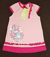 Платье летнее с принтом Бемби 1-2 года