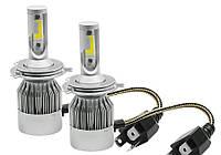 Светодиодные LED лампочки C6 H4 3800 lm6000 К автомобильные лед лампы для головного освещения