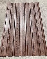 Профнастил с рисунком деревоВЕНГЕ 3Д размер листа 1,5мХ1,16м, фото 3