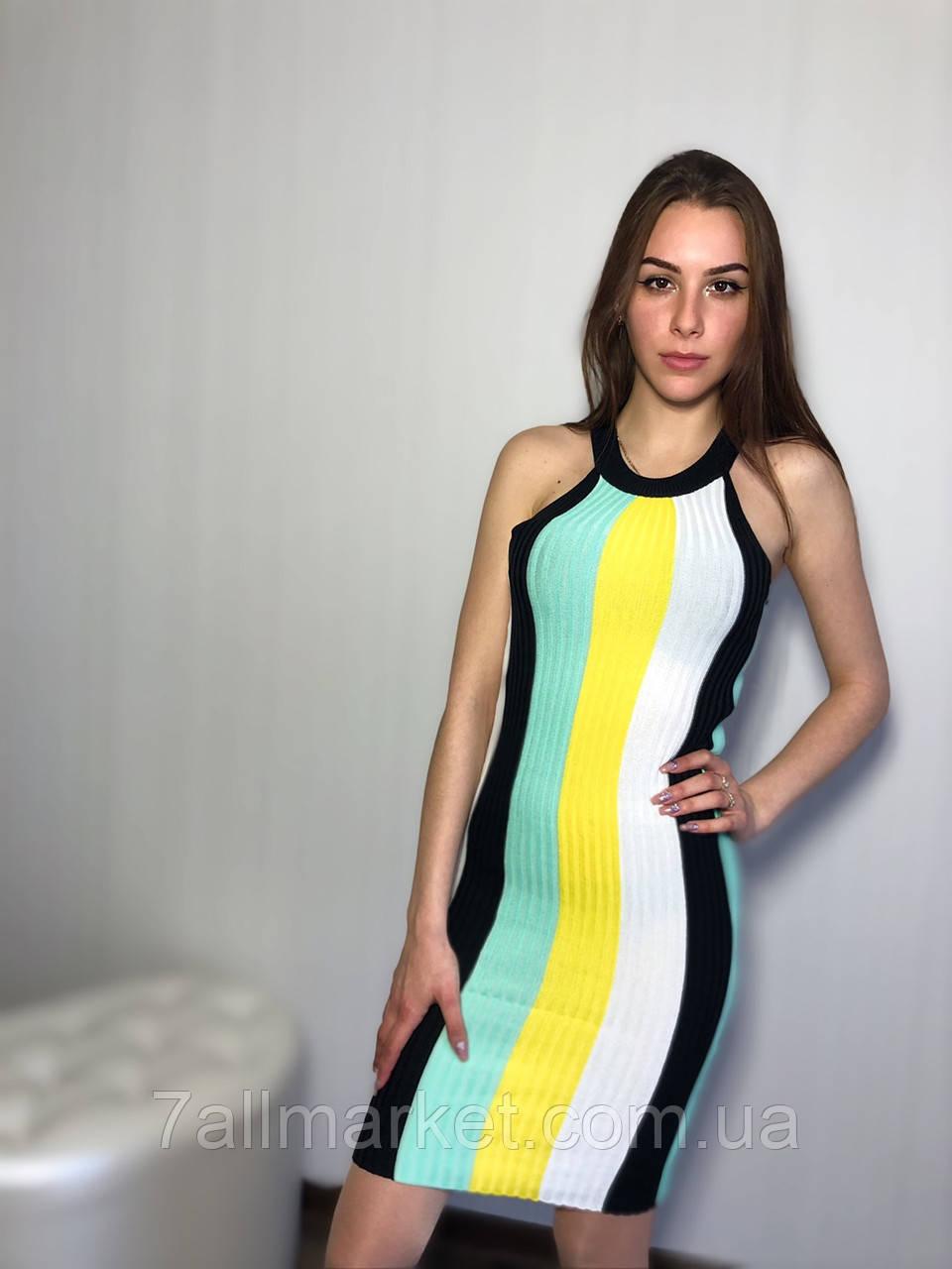 """Платье рубчик женское , размер универсал 42-46 (5цв)  """"COCO"""" купить недорого от прямого поставщика"""