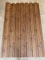 Профнастил з малюнком дерево ВЕНГЕ 3Д розмір листа 1,5мХ1,16м, фото 2