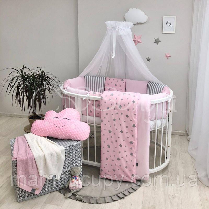 Baby Design Stars розовый звезды с полосками