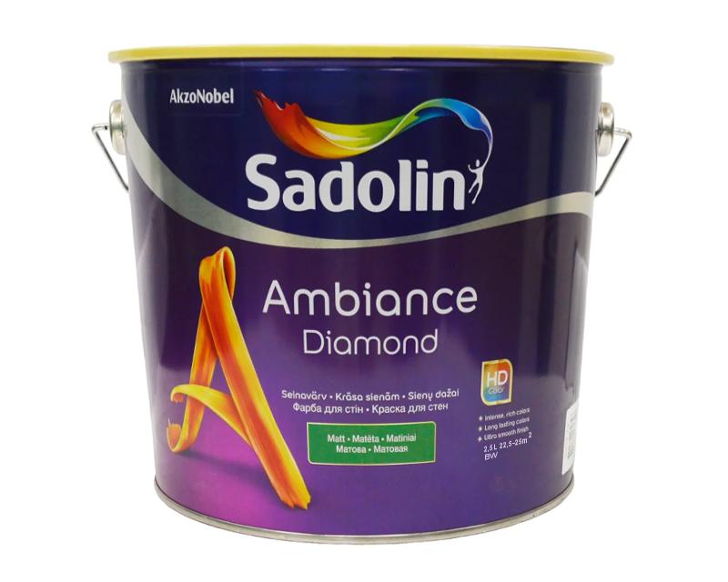 Краска акрилатная SADOLIN AMBIANCE DIAMOND интерьерная белый (база ВW) 2,5л
