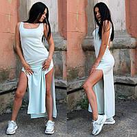 Платье в пол с разрезом на ноге, фото 1