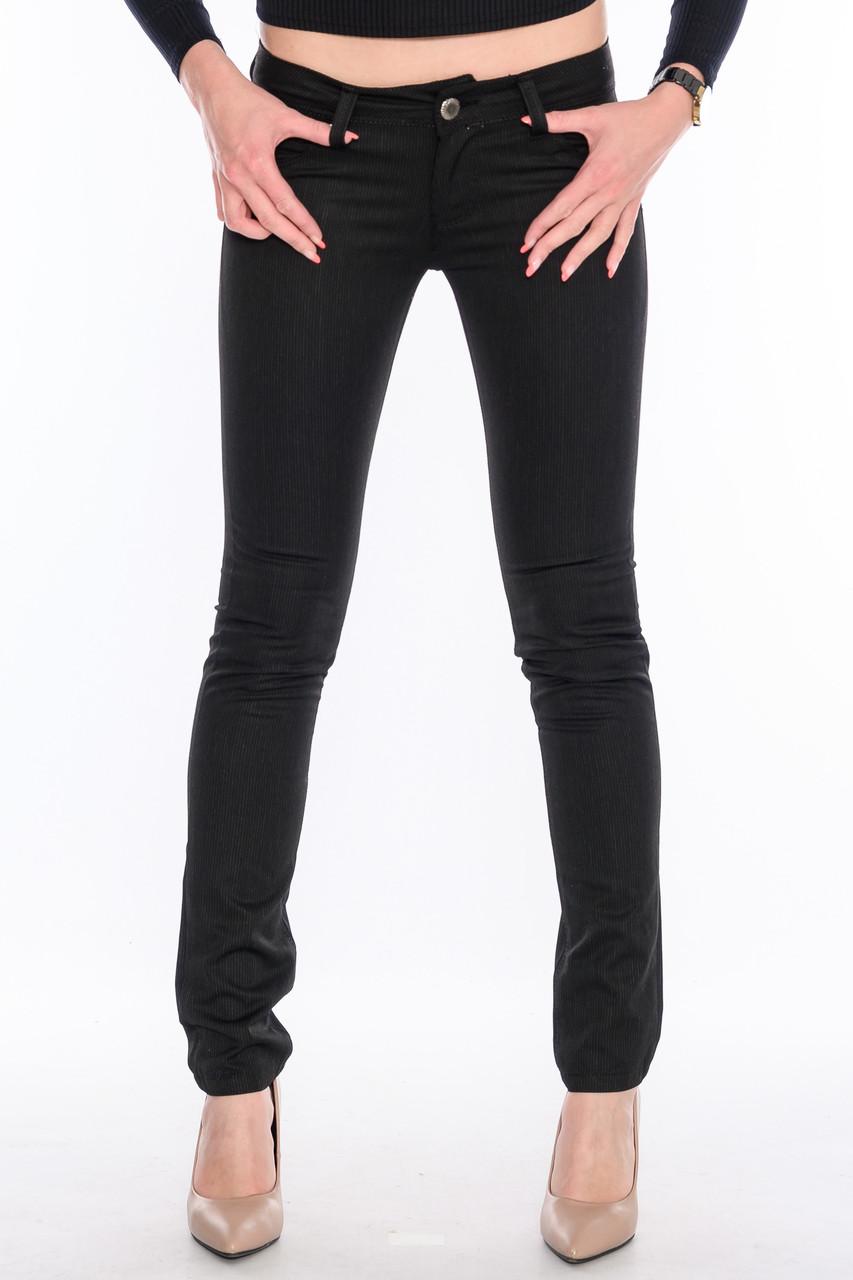 Стрейчевые джинсы Оматjeans 9808-945 в полоску черные