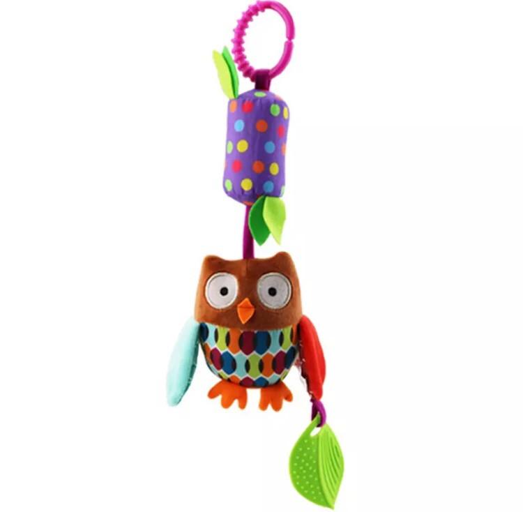 Подвесная игрушка с колокольчиком-грызунок СОВУШКА (SKK-016)