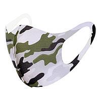 Защитная маска для лица двухслойная military