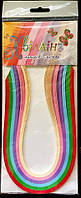 Набор для квиллинга № 2 (полоски). 6 цветов, 4 мм х 420 мм, 160 г/кв.м