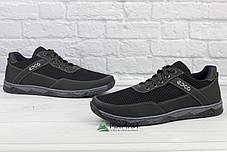 Кроссовки мужские сетка черные 40р, фото 3