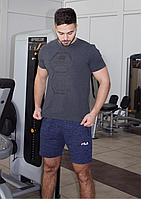 Мужская футболка Philipp Plein темно-серая