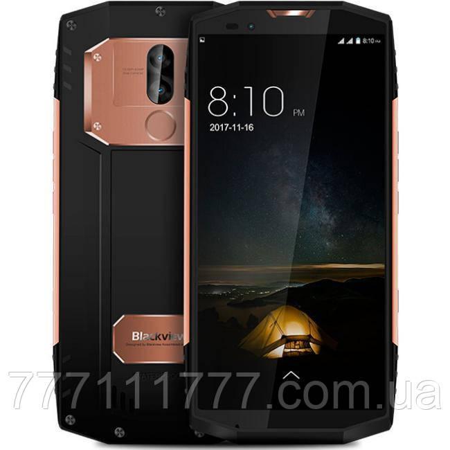 Смартфон противоударный с большим дисплеем и мощной батареей на 2 сим карты Blackview BV9000 gold IP68 4/64 гб