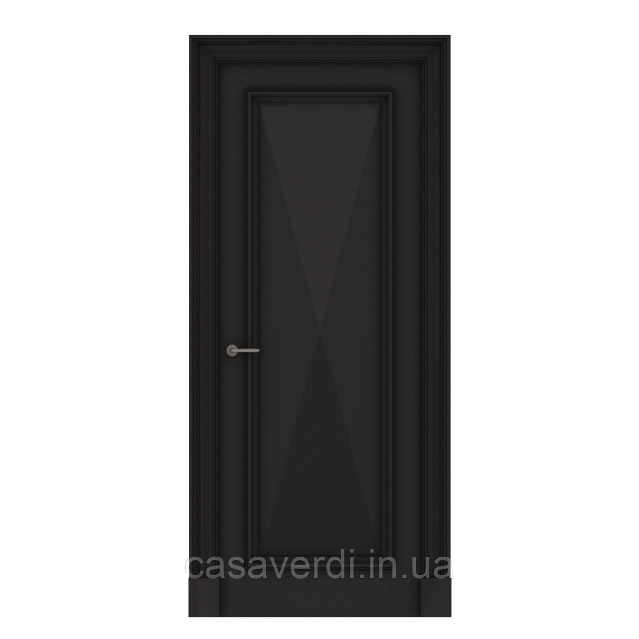 Межкомнатная дверь Casa Verdi Rombo 2 из массива ольхи черная