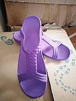 Женские легкие шлепанцы пена фиолетовые сиреневые размеры 37,38