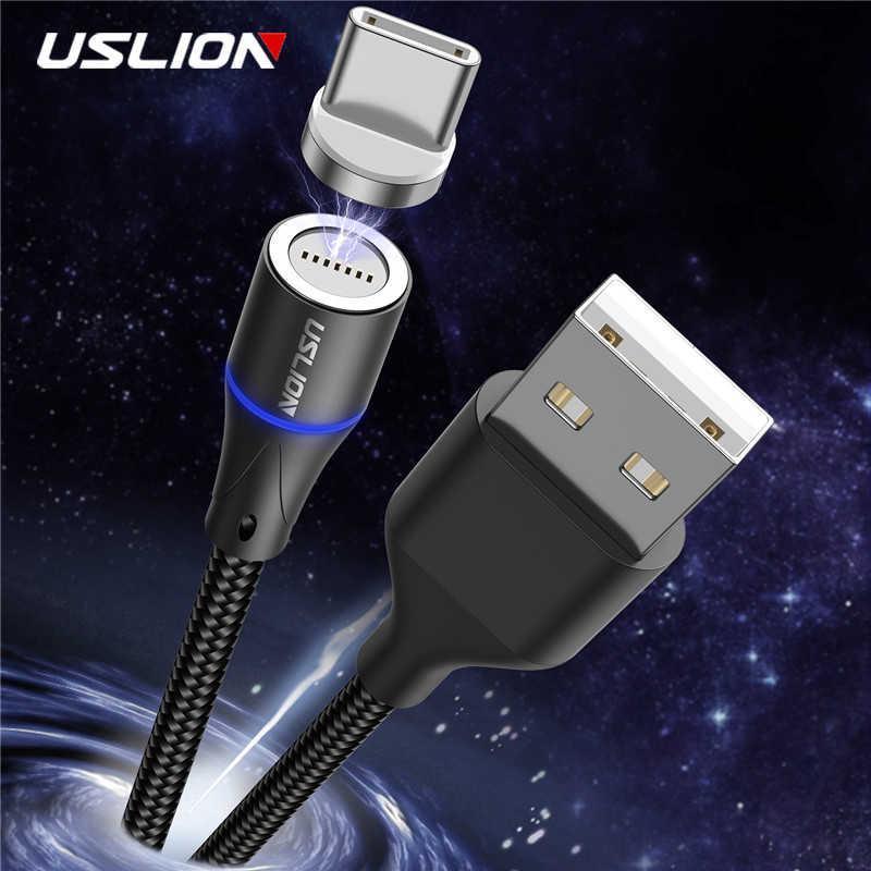 Магнитный кабель для зарядки USLION  Micro USB (для андроид)/USB 2A с