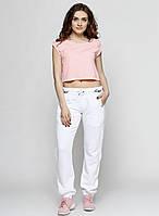 Белые спортивные демисезонные прямые брюки Richmond