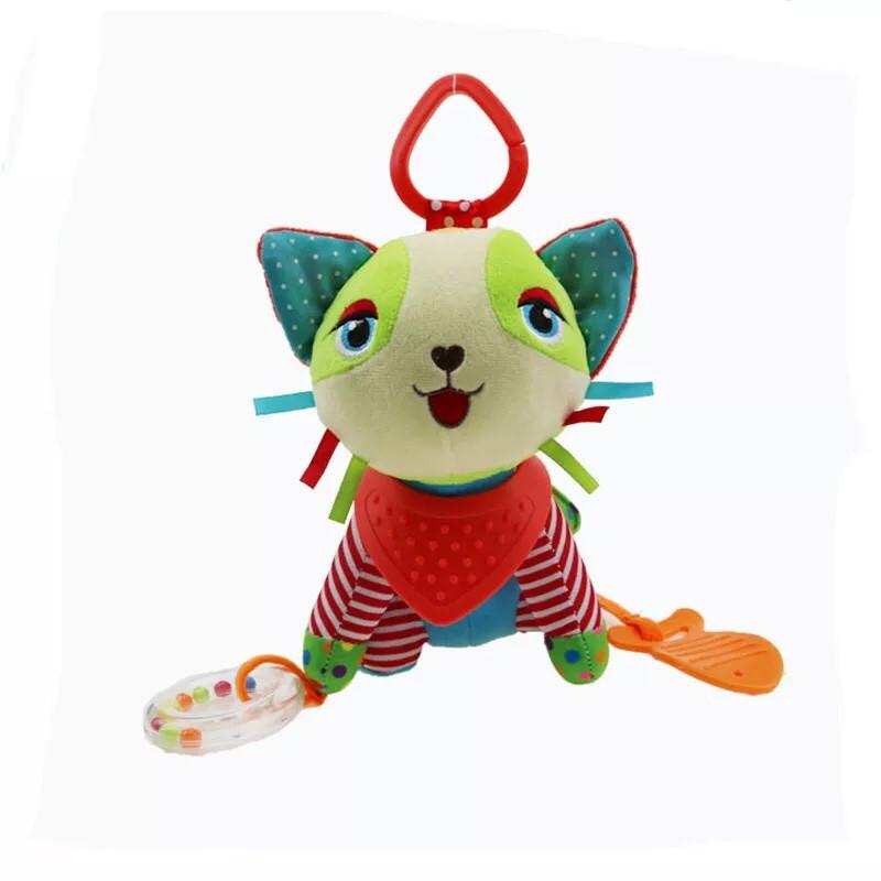 Подвесная игрушка на коляску с колокольчиком КОТИК (8280)