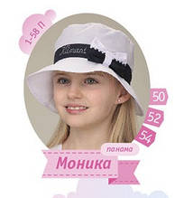Легкая панамка для девочки хлопковая 52 размер на 3-4 года