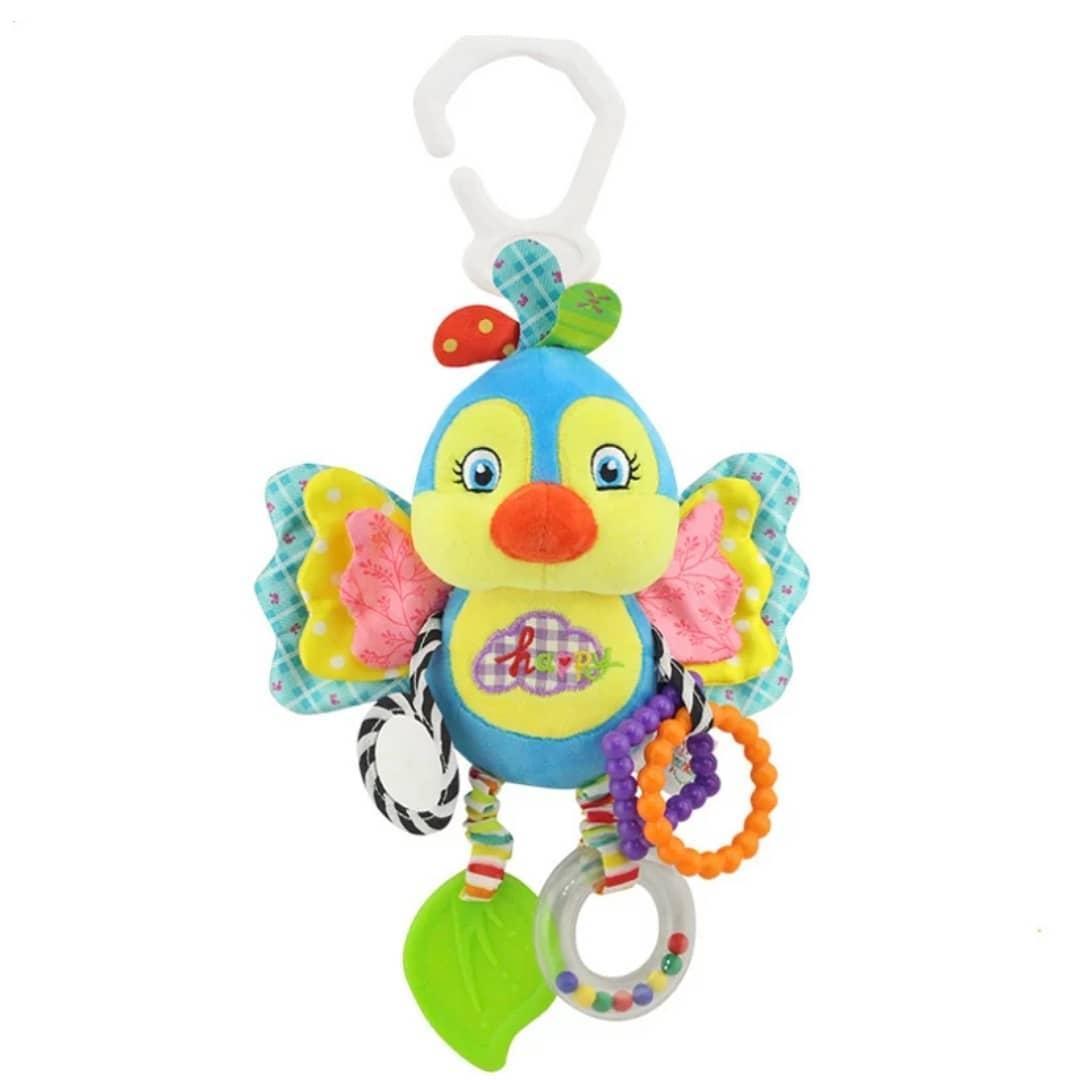 М'яка розвиваюча іграшка-підвіска Happy Monkey Пташка