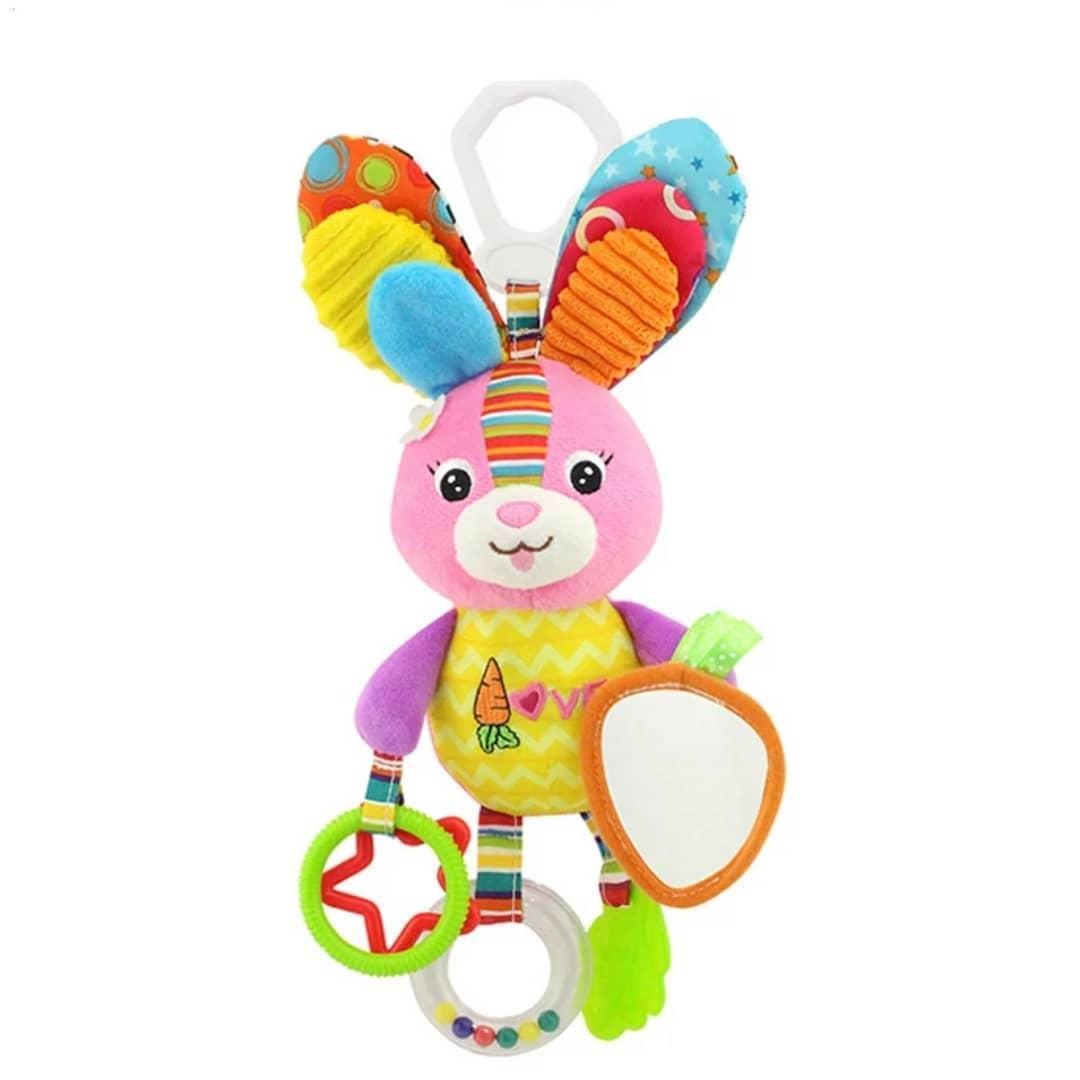 М'яка розвиваюча іграшка-підвіска Happy Monkey Зайчик