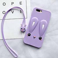 Чехол Funny-Bunny 3D для IPhone SE 2020 Бампер резиновый сиреневый