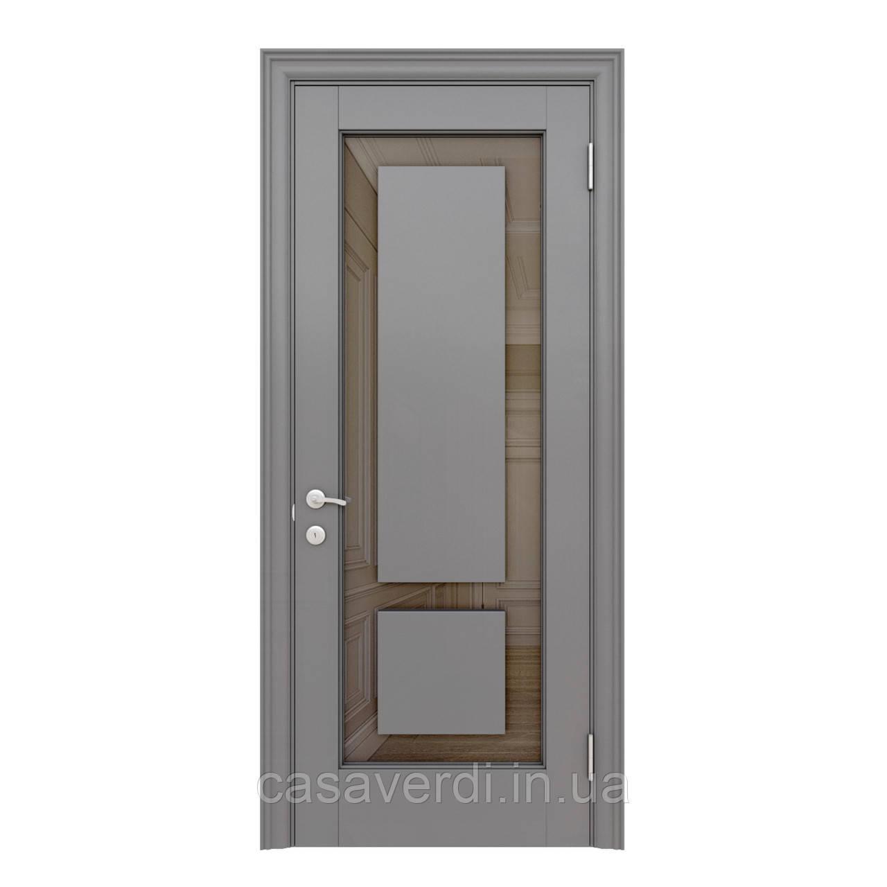 Межкомнатная дверь Casa Verdi Vetro 10 из массива ольхи