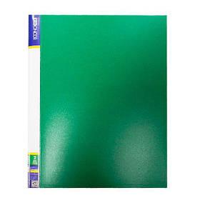 "Папка пл. А4 ""Economix"" E30701-04 2 кільця з карм. зел."