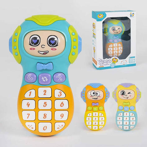 Телефон музыкальный 855-39 А (120) 3 цвета, свет, звук,  в коробке, фото 2