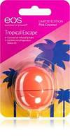 Бальзам для губ Eos Tropical Pink Coconut (7г). Тропический кокос. США. На индивидуальном блистере