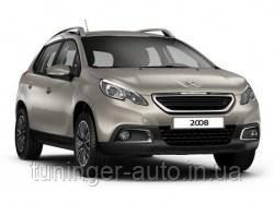 Дефлекторы окон (ветровики) Peugeot 2008 5D 2013г.  (HIC)
